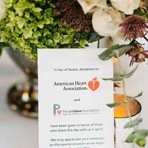 Charitable Guest Favors