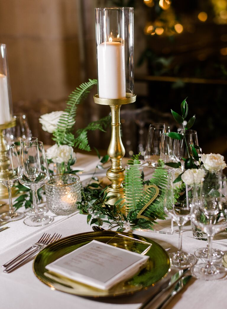 The Knot Dream Wedding 2017 table settings