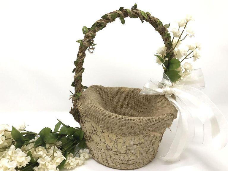 rustic country flower basket