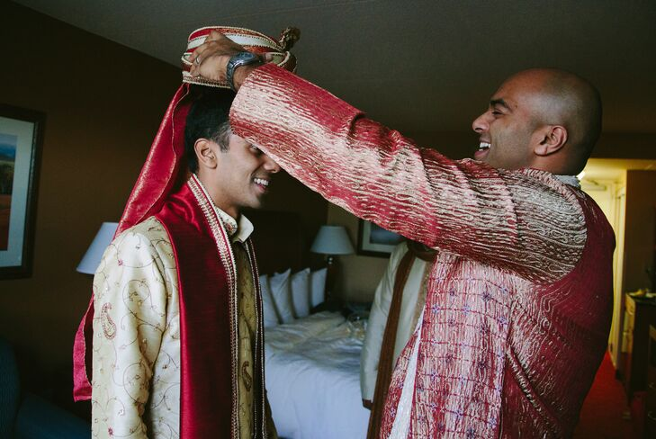 Indian Groom Presented with Headdress