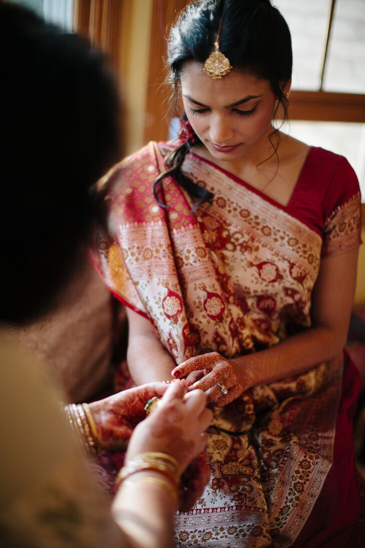 Indian Bride Getting Ready Before Ceremony
