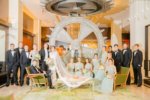 Cool Nautilus-Inspired Dallas Wedding Background