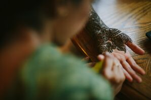 Henna Application to Bride's Hands