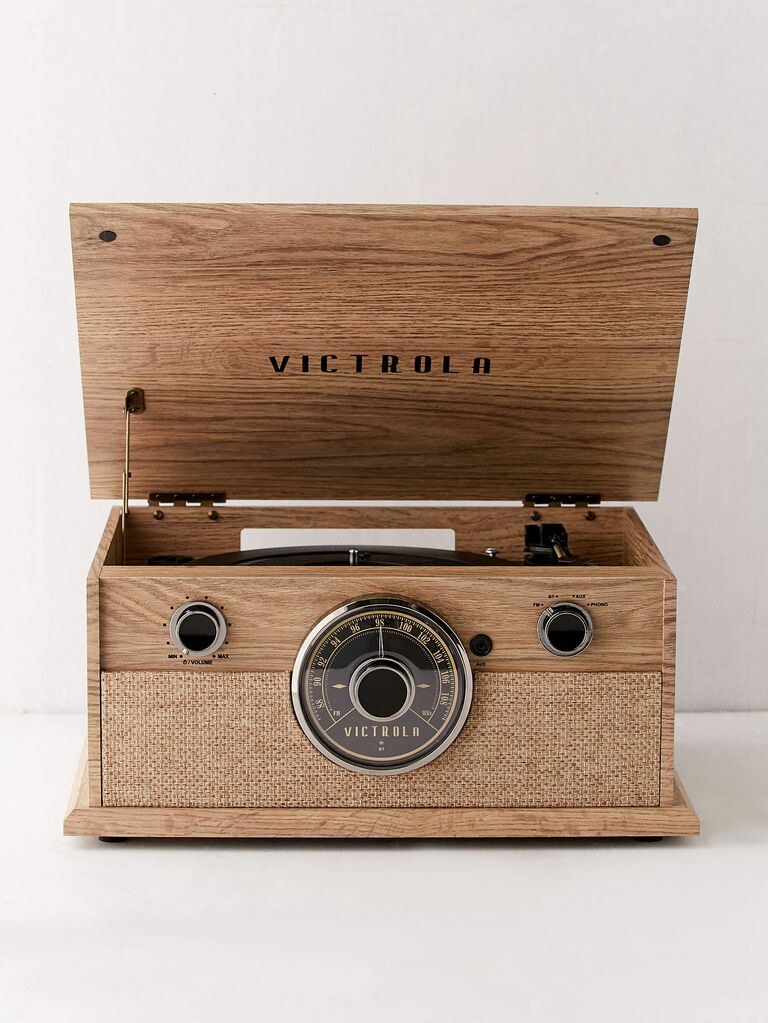 retro record player gift for husband