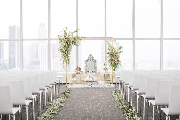 Modern Ceremony Site at SkyStudio in Los Angeles, California