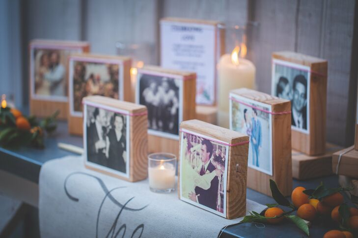 Wood Block Polaroid Display