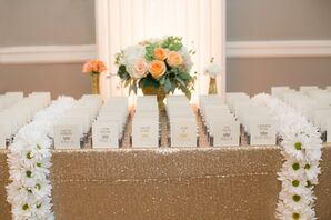 Gold Glitter Escort Card Display