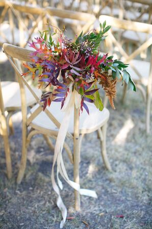 Aisle Decorations on Cross-Back Chairs