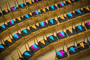 Colorful Neon Paper Airplane Recessional Throws