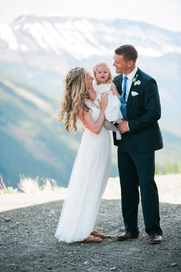 Castle Mountain Family Wedding Portrait