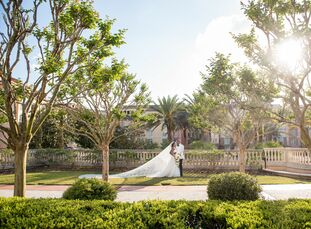 Esther and Damola's wedding was truly a globetrotting affair—the Maryland-based duo chose Florida as their wedding venue but the inspiration for the b