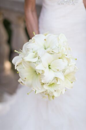 A White Asiatic and Calla Lily Bouquet