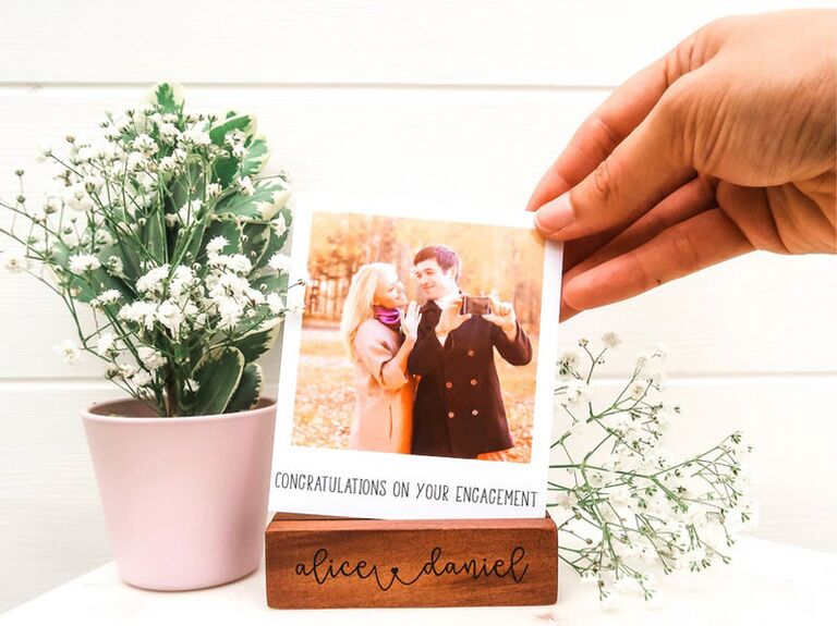 Custom photo display personalized engagement gift