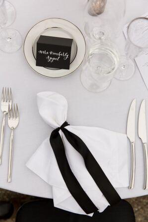 Simple, Elegant Black-and-White Table Settings