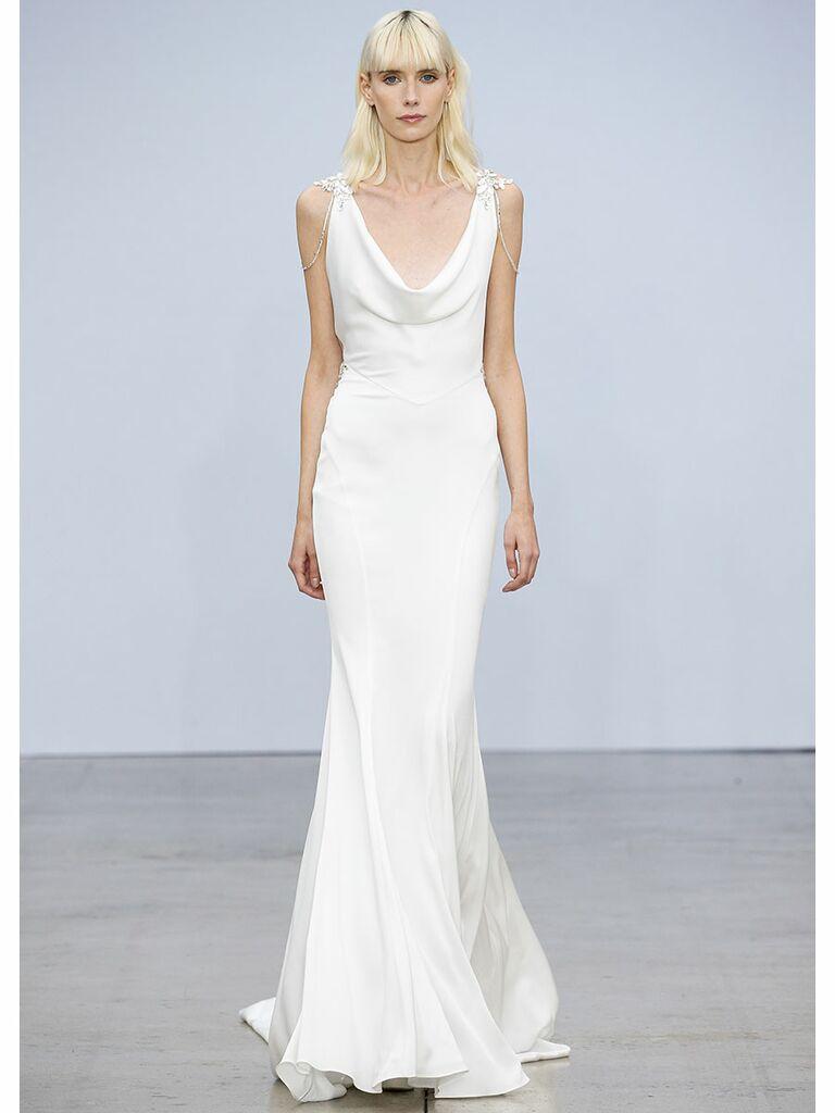 xPnina Tournai wedding dress cowl slip dress