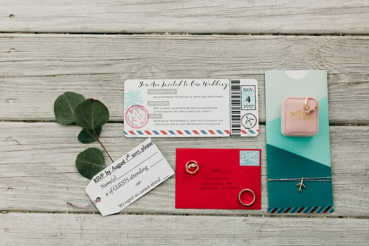 Custom Travel-Themed Invitation Suite