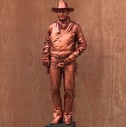 Greenfield, MA Human Statue | THE COPPER COWBOY by Mimealot