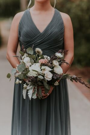 Dahlia, Ranunculus and Lavender Accent Bouquets