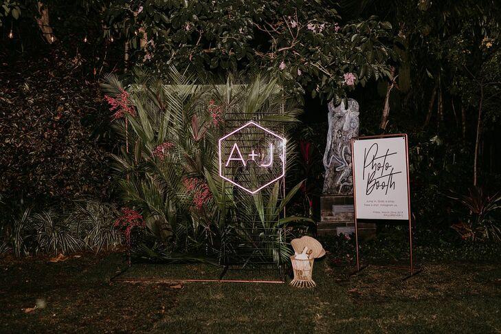 Wedding Photo Booth at the Miami Beach Botanical Garden in Miami Beach, Florida