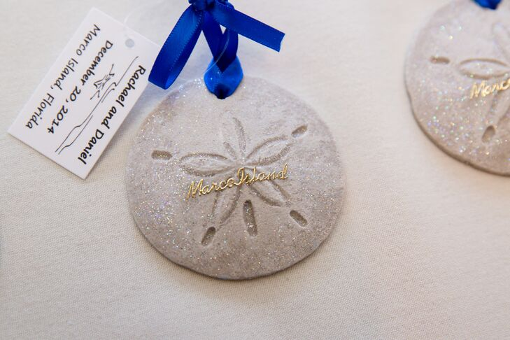 Custom Sand Dollar Ornament Wedding Favors