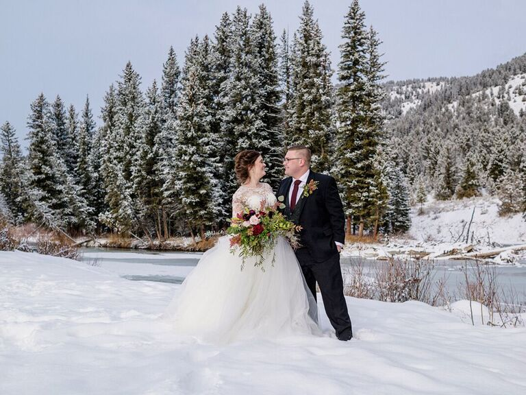 Winter wedding venue in Gallatin Gateway, Montana.
