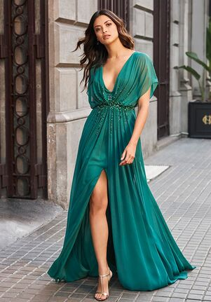 THE PARTY EDIT ATOS STYLE 118 V-Neck Bridesmaid Dress