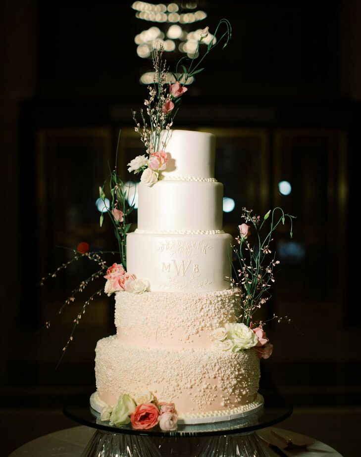 Tiered Wedding Cake at Detroit Institute of Arts Wedding