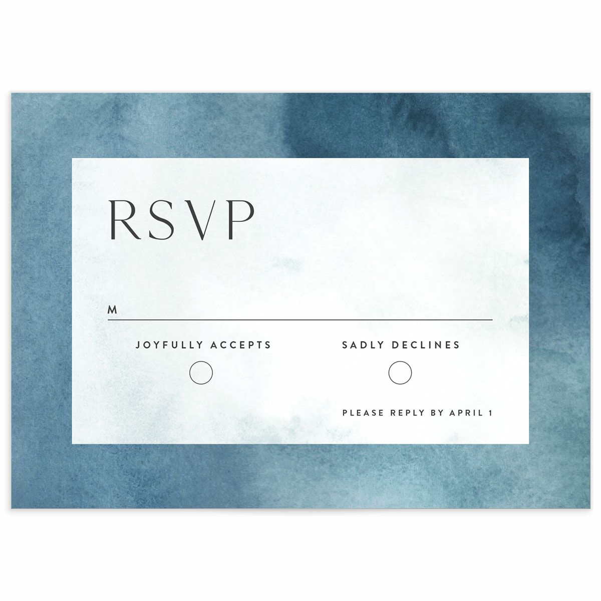 A Wedding Response Card from the Elegant Ethereal Collection