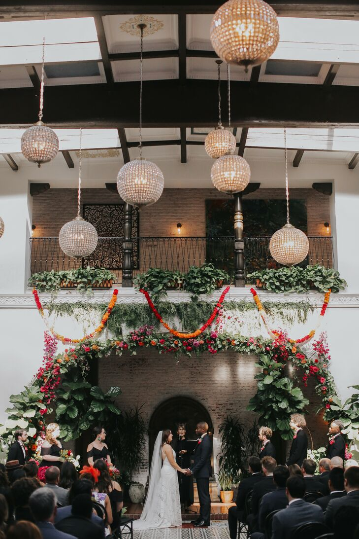 Wedding Ceremony at Ebell Long Beach in California
