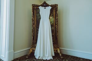 Classic Ivory Houghton Sheath-Style Wedding Dress
