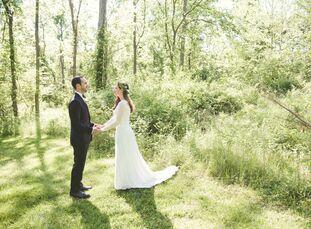 Lauren Clark (26 and a nutrition teacher) and Paul Dale's (30 and a teacher) vintage, garden-style wedding p
