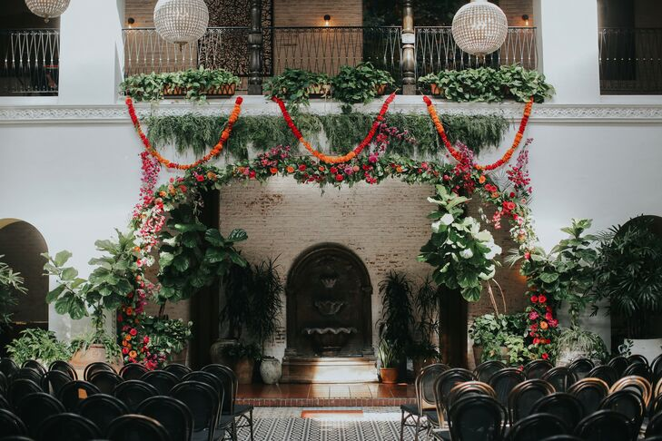 Unique Ceremony Setting at Ebell Long Beach in California