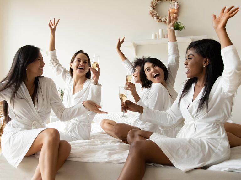 Friends on bachelorette trip