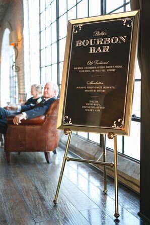 Art-Deco Bourbon Bar Sign