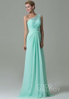 CocoMelody Bridesmaid Dresses COZK16004 One Shoulder Bridesmaid Dress