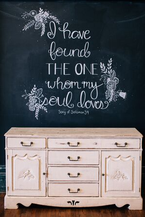 Wedding Day Chalkboard Verse