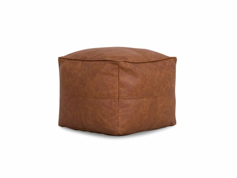 Leather ottoman 17th anniversary gifts