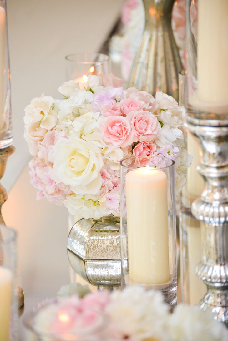 White and Pink Rose Decor