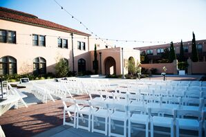 White Folding Chairs, Ceremony Venue
