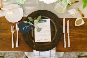 Eucalyptus-Accented Rustic Place Settings