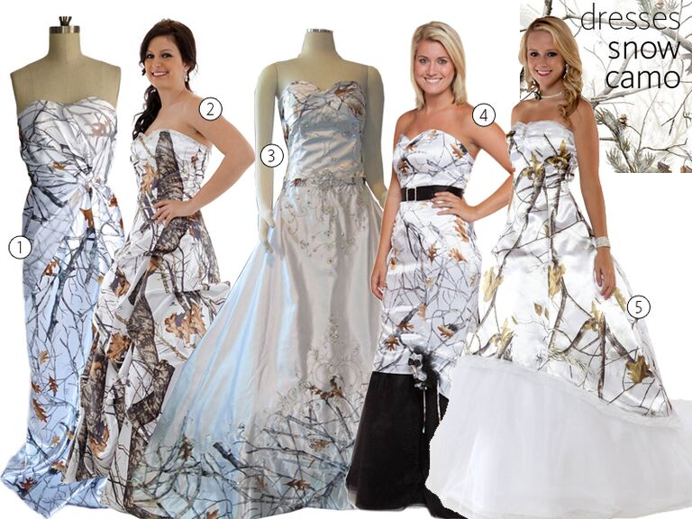 5 Snow Camo Wedding Dresses