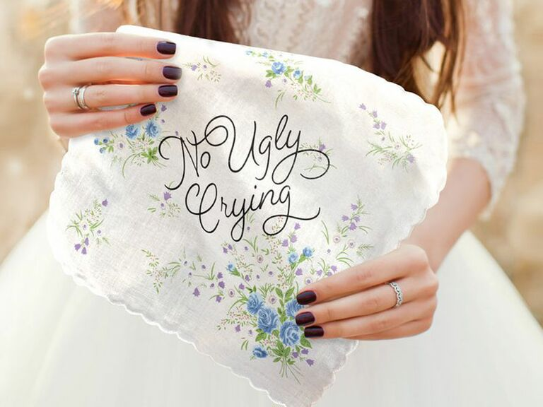 Floral embroidered handkerchief