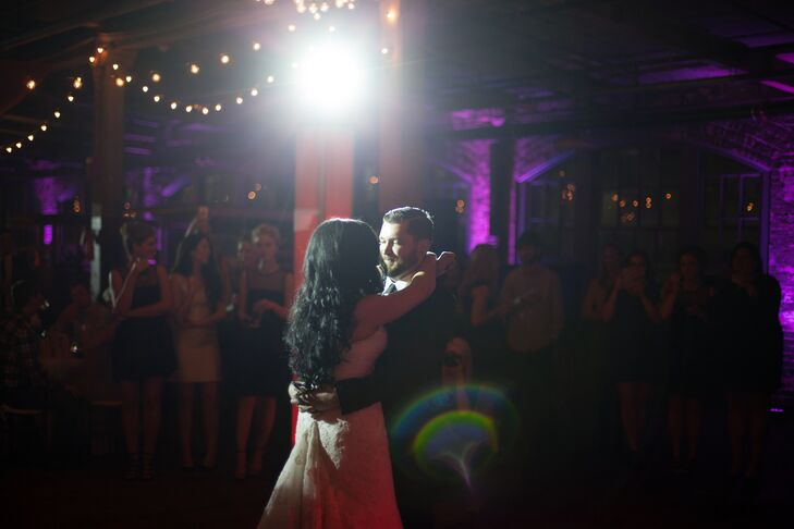 """The bride's sister introduced Ashley to Ed Sheeran's 'Thinking Out Loud' the day before the wedding and it was love at first listen. """"Every lyric seemed to tug at my heart strings,"""" Ashley said. """"I changed the song the day before the wedding and didn't tell Jeremy -- I knew it would be a pleasant surprise."""""""