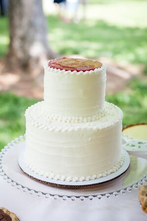 Sweet Cream Cheese and Berry Compote Wedding Cake