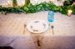Vintage-Inspired Mismatched Place Settings