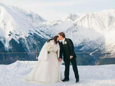Alaska mountain wedding