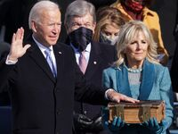 Joe Biden wife Jill Biden 2021 presidential inauguration oath