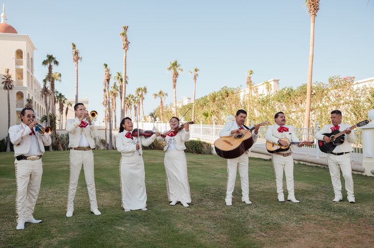 A mariachi band is perfect for a wedding in Mexico. This group played lively music throughout the ceremony and cocktail hour, and it was a hit with the guests.