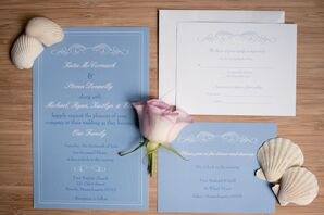 Traditional Blue Wedding Invitations