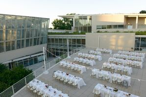 Modern Reception on a Museum Rooftop